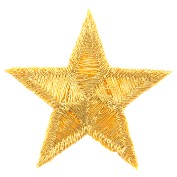 Star Embroidered Iron-On Appliques - 1 3/8""
